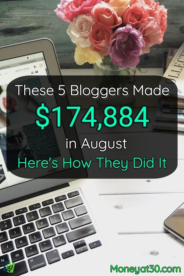 These 5 Bloggers Made 174,884 in Auguest: Here's How They Did It